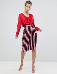 Vesper Stripe Wrap Skirt - Multi