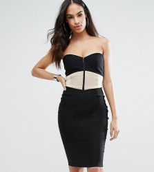 Vesper Sweetheart Pencil Dress With Panelled Bodice - Multi