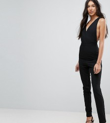 Vesper Tall Open Back Tailored Jumpsuit - Black