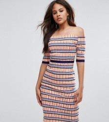 Vesper Tall Overlay Pencil Dress In Check Print - Multi
