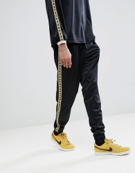 VFILES Joggers In Black With Taping - Black