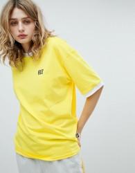 VFILES Logo T-Shirt In Yellow - Yellow