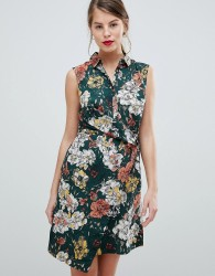 Vila Floral Sleeveless Wrap Dress - Multi