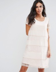 Vila Lace Swing Dress - Pink