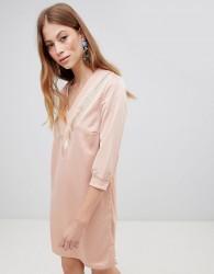Vila V Neck Sporty Dress - Pink