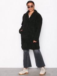 Vila Vifaira Faux Teddy Coat Faux Fur Sort