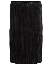 Vila Vifrances Midi Skirt (SORT, LARGE)