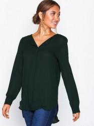 Vila Vilucy L/S Shirt - Noos Hverdagsbluser Mørkegrøn