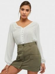 Vila Vilucy L/S V-Neck Button Shirt - Fa Hverdagsbluser