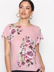 Vila Vilucy S/S Flounce Top - Fav T-shirt Lys Rosa