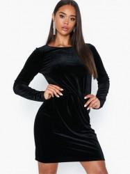Vila Viminny Velvet L/S Detail Dress - F Tætsiddende kjoler