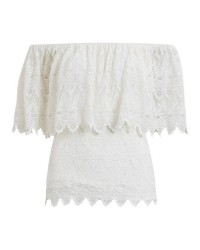 Vila Viwoodstock off shoulder top (OFFWHITE, MEDIUM)
