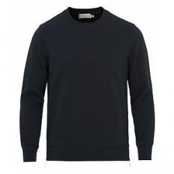 Vince Side Zip Crew Neck Sweatshirt New Coastal Blue