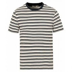 Vince Stripe Crew Neck Tee White/Blue