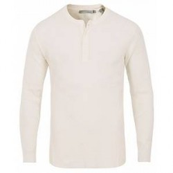 Vince Waffle Henley White
