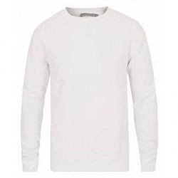Vince Waffled Cotton Crew Neck White