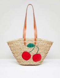Vincent Pradier Cherry Structured Beach Bag - Multi