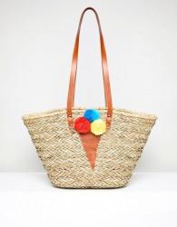 Vincent Pradier Ice Cream Pom Pom Structured Beach Bags - Multi