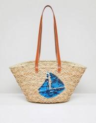 Vincent Pradier Sail Boat Structured Straw Beach Bag - Multi
