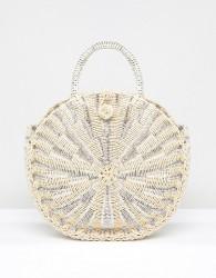 Vincent Pradier Structured Handle Straw Beach Bag - Multi