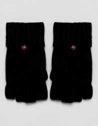 Vincent Pradier Wool and Cashmere Mix Gloves with Foldover - Black