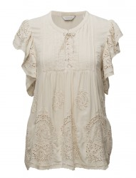 Viscose Top With Special Cut Out Broderie Fabric
