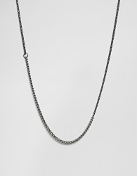 Vitaly Binary Necklace In Stainless & Antiqued Steel - Silver