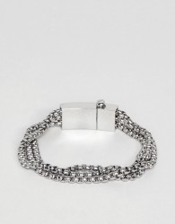 Vitaly Triad Bracelet In Stainless Steel - Silver