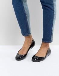 Vivienne Westwood for Melissa Black Space Love Flat Shoes - Black