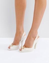 Vivienne Westwood For Melissa Lady Dragon Orb Heeled Shoes - Beige
