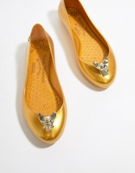 Vivienne Westwood Space Love Flat Ballerinas - Gold