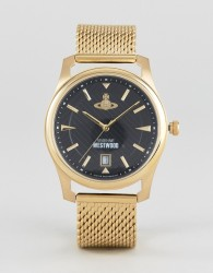 Vivienne Westwood VV185BKGD Mesh Watch In Gold - Gold