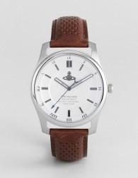 Vivienne Westwood VV185SLBR Holborn II Leather Watch In Brown - Brown