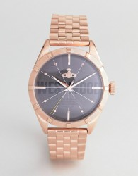 Vivienne Westwood VV192BKRS Conduit Bracelet Watch In Rose Gold - Gold