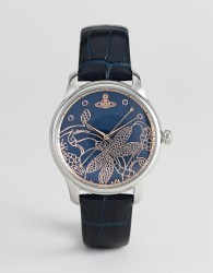 Vivienne Westwood VV197NVNV Fitzrovia Leather Watch In Navy - Navy