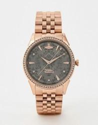 Vivienne Westwood Wallace bracelet watch in rose gold - Gold