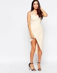 VLabel Lyle Dress With Asymmetric Hem - Beige