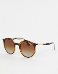 Vogue Eyewear 0VO5242S round sunglasses in tort - Brown