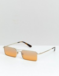 Vogue X Gigi rectangular slim frame sunglasses - Yellow