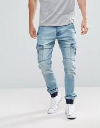 Voi Jeans Cargo Jogger Jeans - Blue