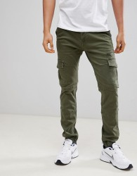 Voi Jeans Cuffed Cargo Pants in Tapered Fit - White