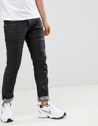 Voi Jeans Deconstructed Jeans in Coated Black - Black