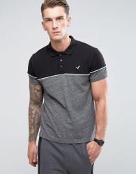 Voi Jeans Panel Polo Shirt - Grey