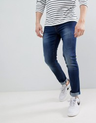 Voi Jeans Skinny Fit Jeans in Mid Blue - Blue