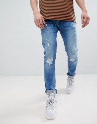 Voi Jeans Skinny Fit Jeans in Ripped - Blue