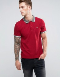 Voi Jeans Tipped Polo Shirt - Red