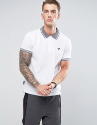 Voi Jeans Tipped Polo Shirt - White