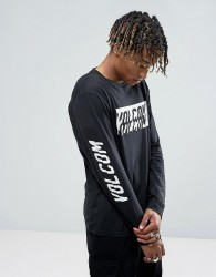 Volcom Chopper Long Sleeve T-Shirt With Sleeve Print - Black