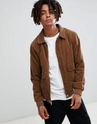 Volcom domjohn corduroy jacket in brown - Brown