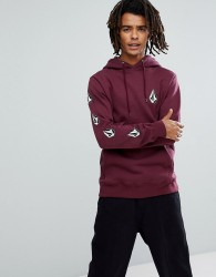 Volcom Hoodie With Logo Sleeve Print - Red